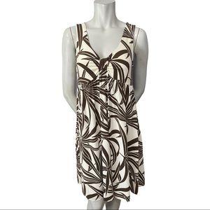 Tommy Bahama Silky Palm Print A Line Dress Small